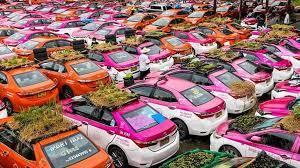 Неиспользуемые автомобили превратили в огород в Таиланде