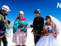 В Боливии свадьбу сыграли  на самой высокой горе в Южной Америке