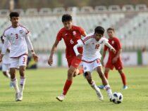 Сборная Кыргызстана пофутболу выиграла команду ОАЭ