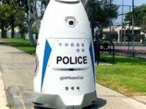 Настоящий робокоп следит за порядком в парке Лос-Анджелеса