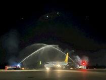 В Оше впервые за 8 лет приземлился рейсовый самолёт из Стамбула