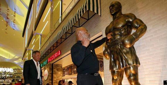 Майку Тайсону установили трёхметровый монумент в Лас-Вегасе